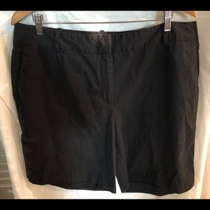 TALBOTS shorts  black chinos perfect stretch 16W